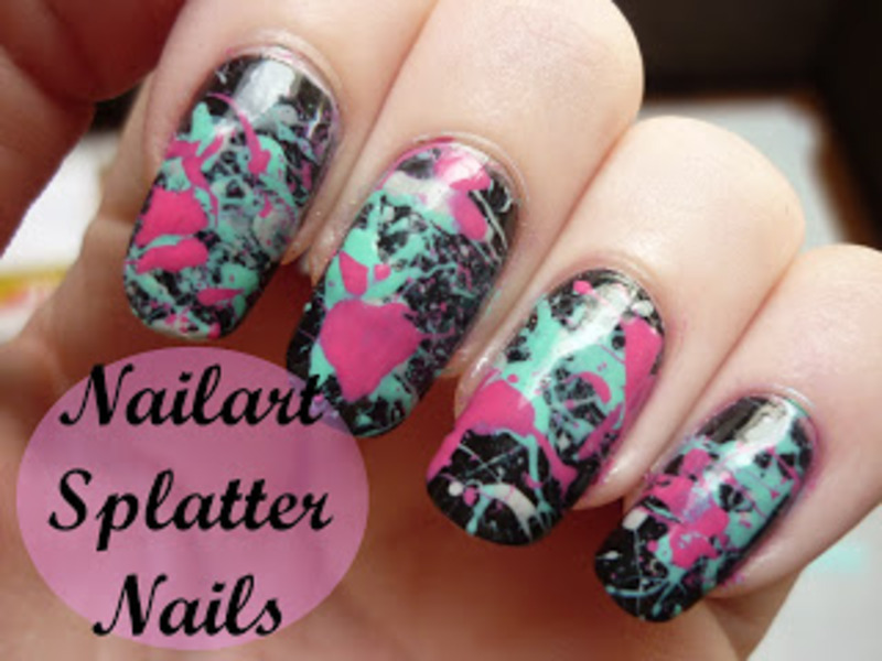 Nailart: Splatter nails  nail art by Mandy
