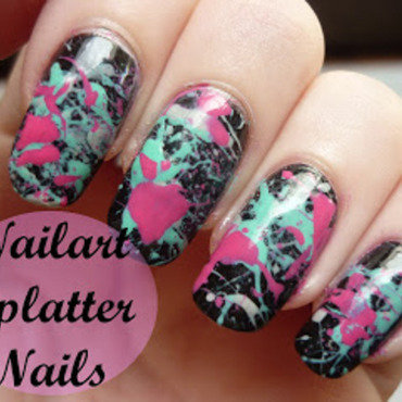 Nailart splatter thumb370f