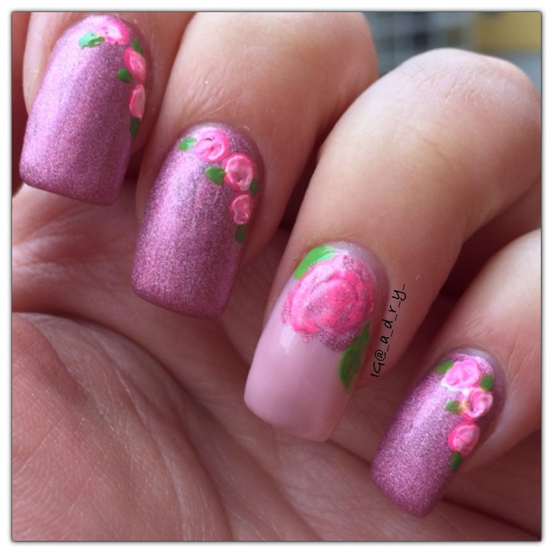 💕 waiting for spring 🌸 nail art by Adriana