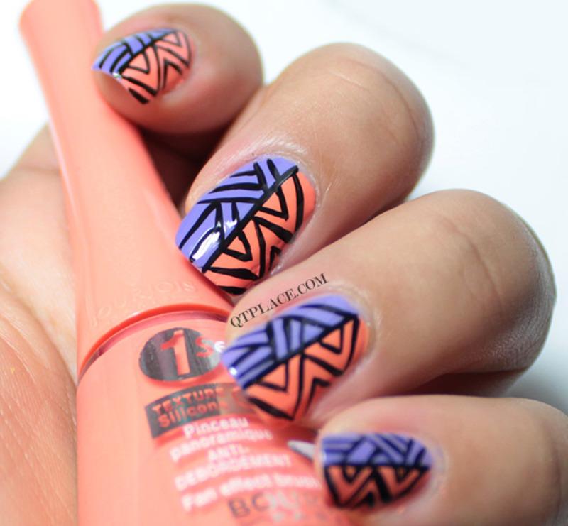 Tribal aztec nail art nail art by Mattania