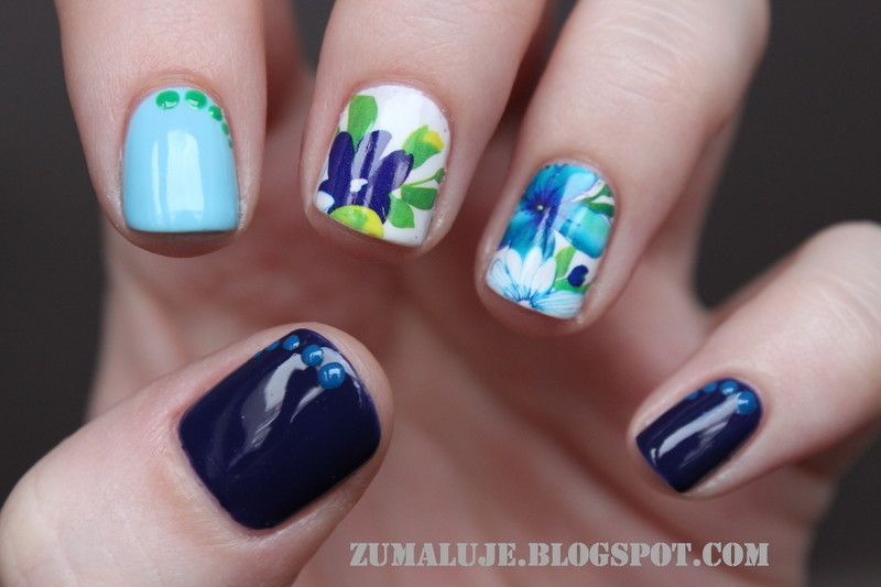 flower power nail art by Zu