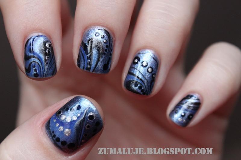 waves nail art by Zu