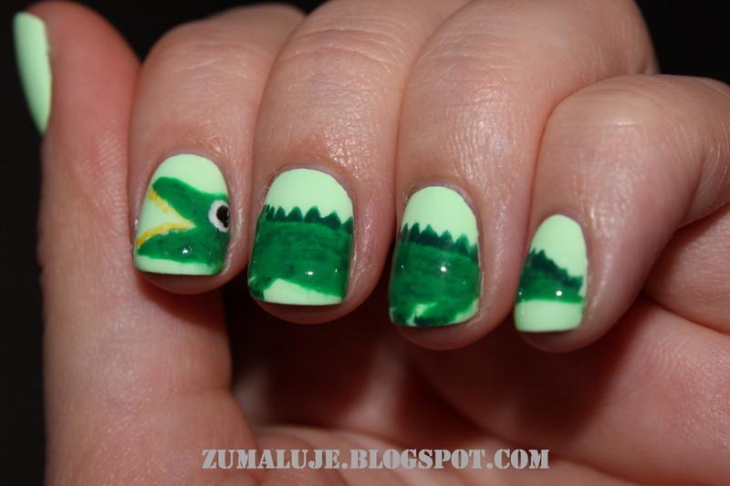crock nail art by Zu