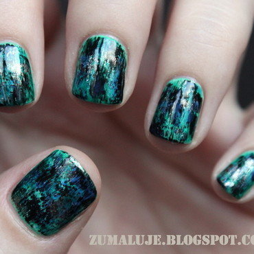 distressed nails nail art by Zu