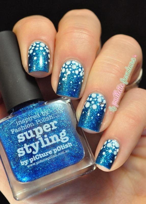 snowy dotticure nail art by nathalie lapaillettefrondeuse