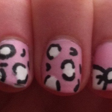 Leopard Print & Bows nail art by Whimsical Nails