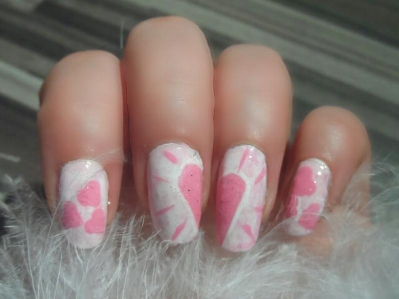 Nail Art de Saint Valentin : Coeurs nail art by Coco