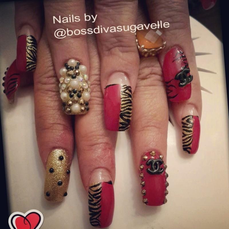 Spicy Valentine's Day  nail art by Sugarthenailboss