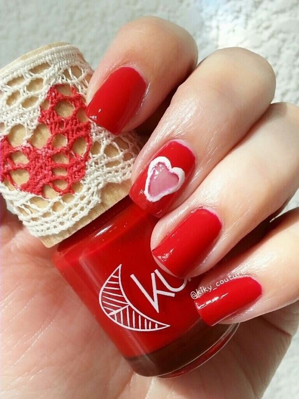 Heart Window nail art by Ximena Echenique