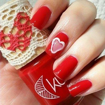 Heart Window nail art by Ximena Echenique
