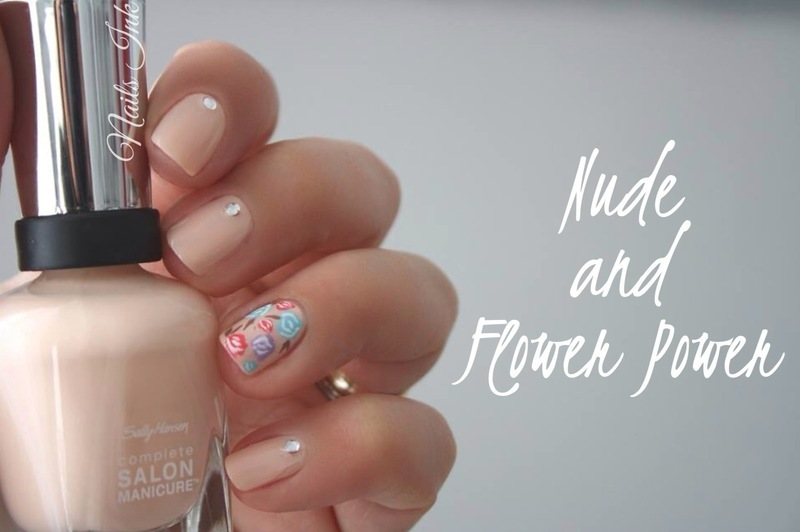 Nude and Flower Power nail art by Seasunandpearl  Nails Ink