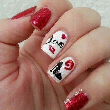 Love & Fashion nail art by Ximena Echenique