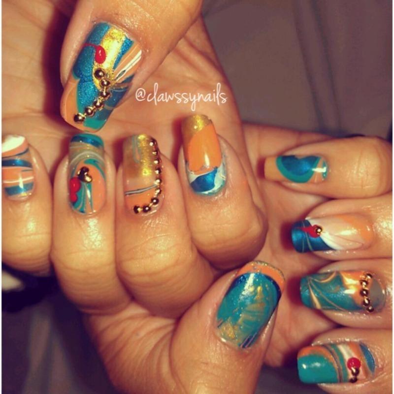 Last Summer in San Diego nail art by Jessica de Leon