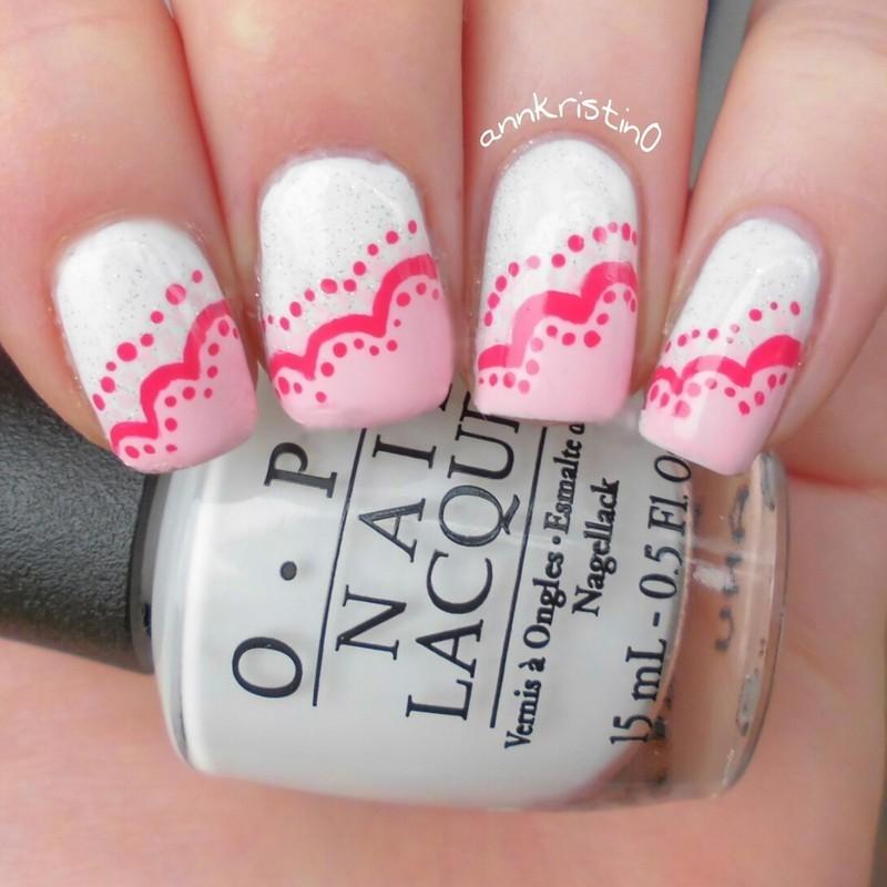 My Valentine nail art by Ann-Kristin