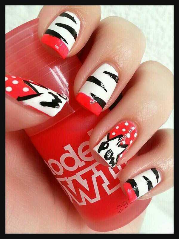 ROW! POW! WOW! nail art by Ximena Echenique