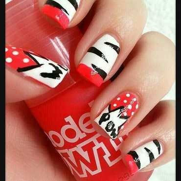 ROW! POW! WOW! nail art by Ximena Echenique
