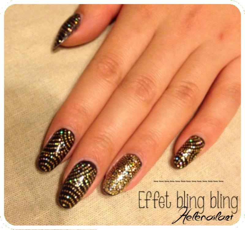 Bling Bling nail art by LÊ Hélène