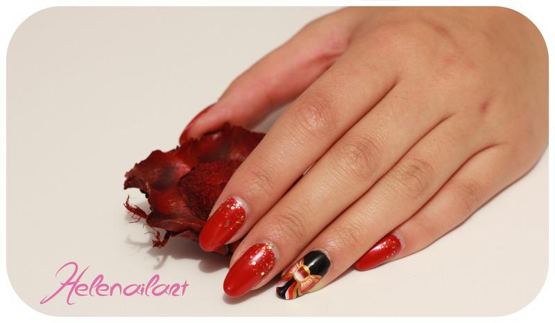 Glamour nail nail art by LÊ Hélène