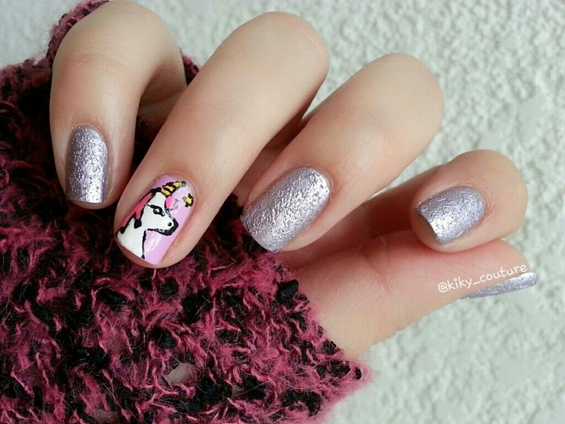 Dreams and Unicorns  nail art by Ximena Echenique