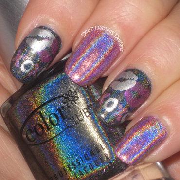 XOXO Holographic Nail Art nail art by Denise