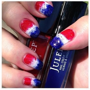 Patriotic Pepsi nail art by Denise Reis