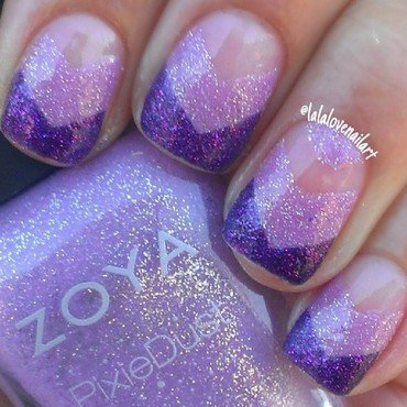 Purple girl nail art by Jessica Byles