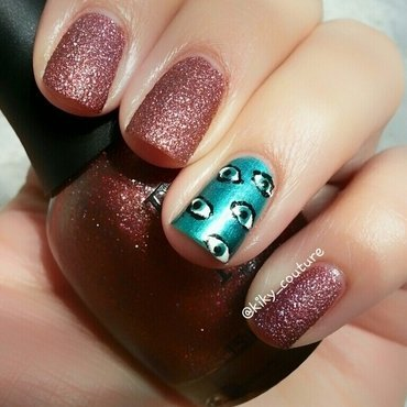 Eye See U  nail art by Ximena Echenique