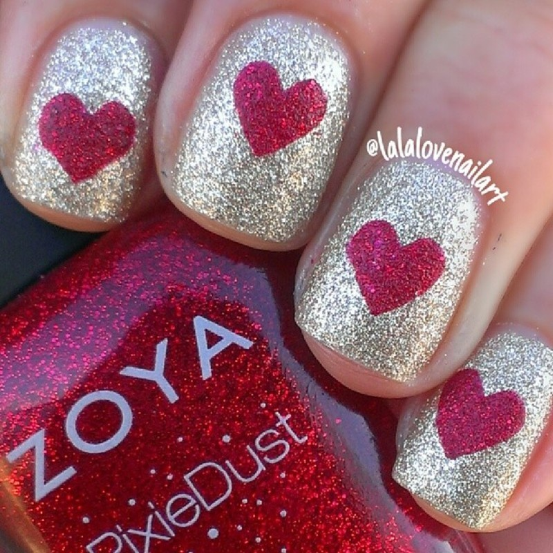 I heart you nail art by Jessica Byles