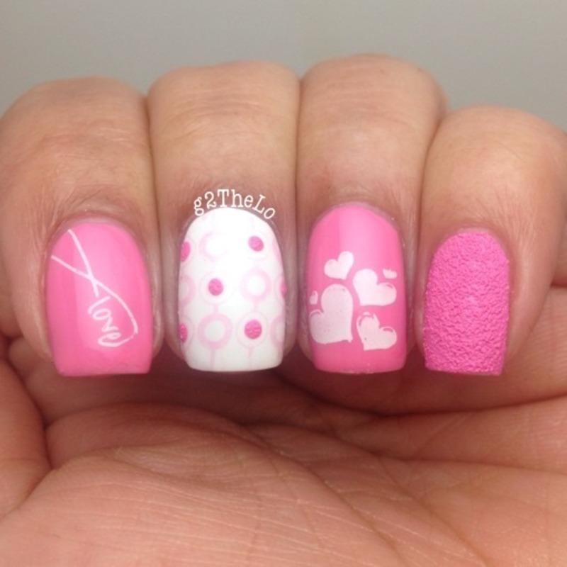 Valentine nails  nail art by Gloria  Loeza