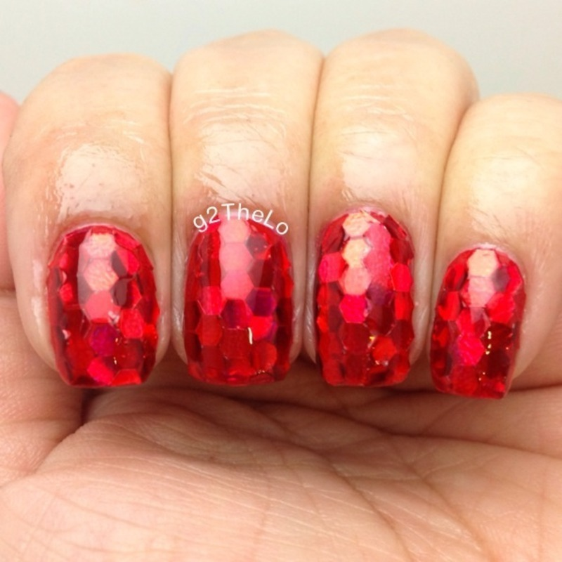 Glitter placement  nail art by Gloria  Loeza