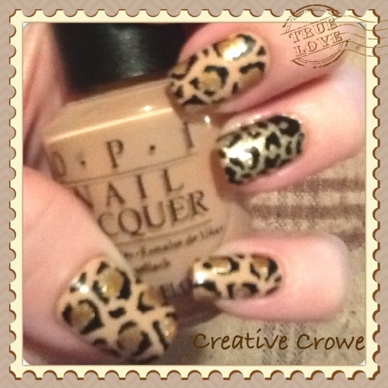 Nude Leopard Print nail art by Monica