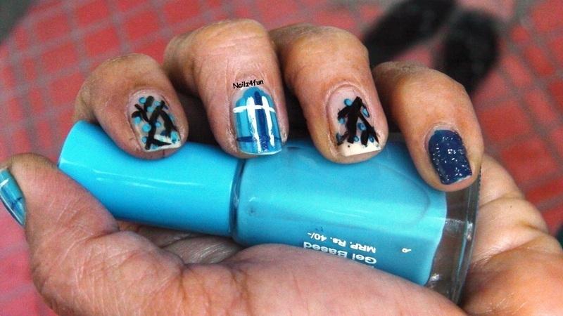 Mix n Match blues nail art by Nailz4fun