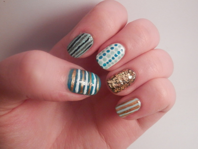 Playing with colours nail art by Enni