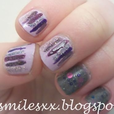 Purple Waterfall nail art by Sarah Clarke