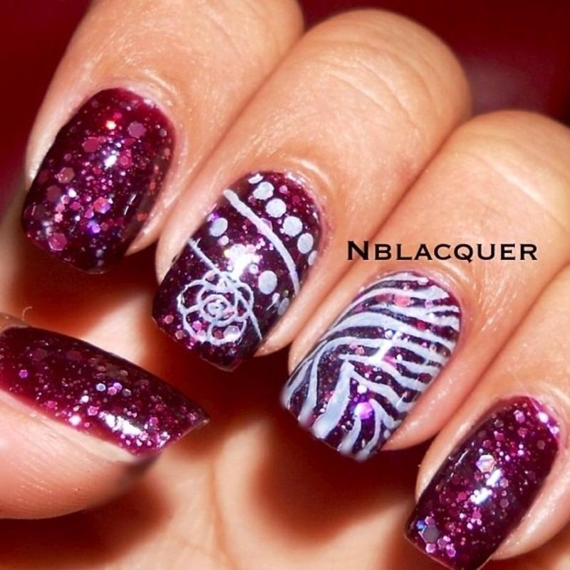 Konad Stamping Nail art nail art by Monica S.