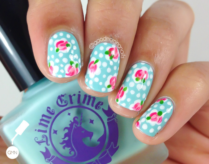 Cath Kidston Inspired nail art by Sabah