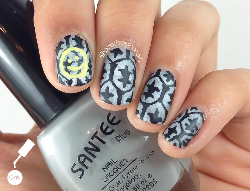 Sherlock Wallpaper nail art by Sabah