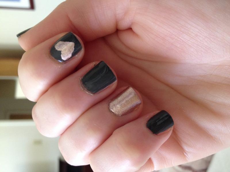 Copper love nail art by Cara
