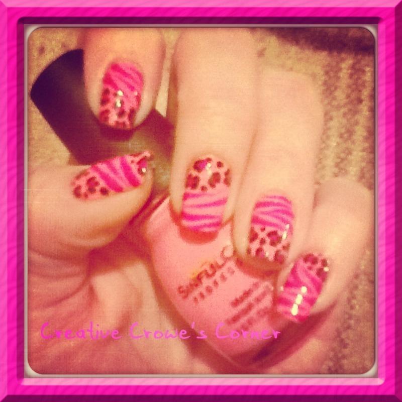 Leopard print nail art by Monica