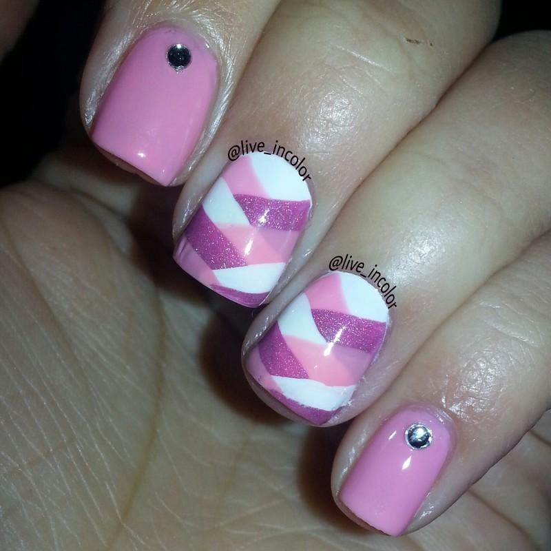 v-day braid nail art by kEElyN mARiN
