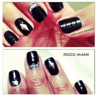 Rock mani nail art by PumpUrNails by Chrisblackpink