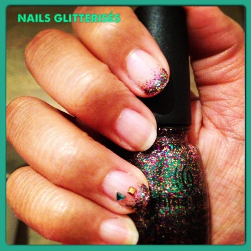 Nails glitterisés nail art by PumpUrNails by Chrisblackpink
