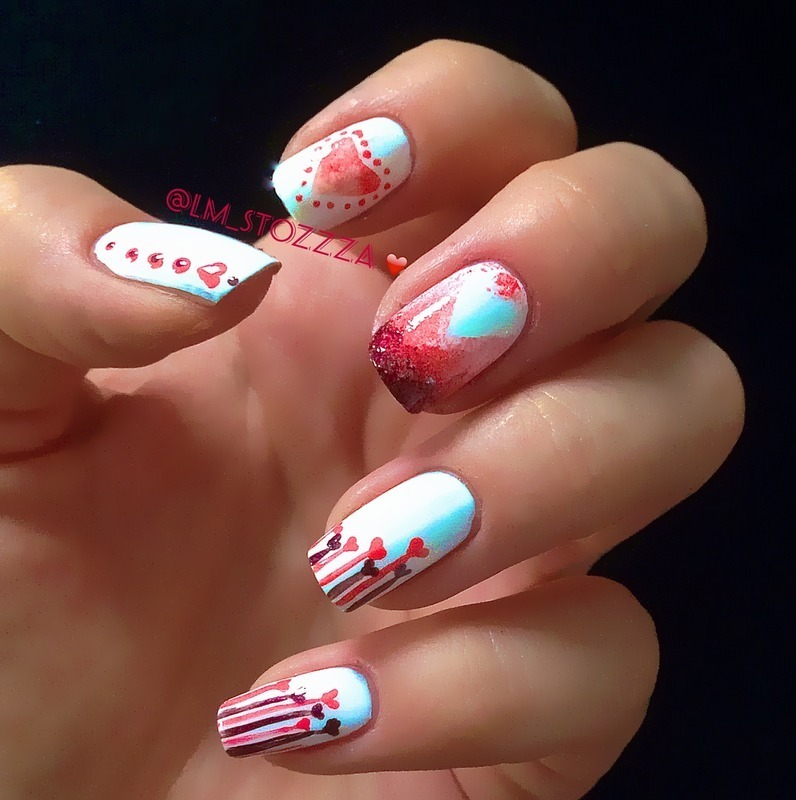Love is in the air... nail art by Louise