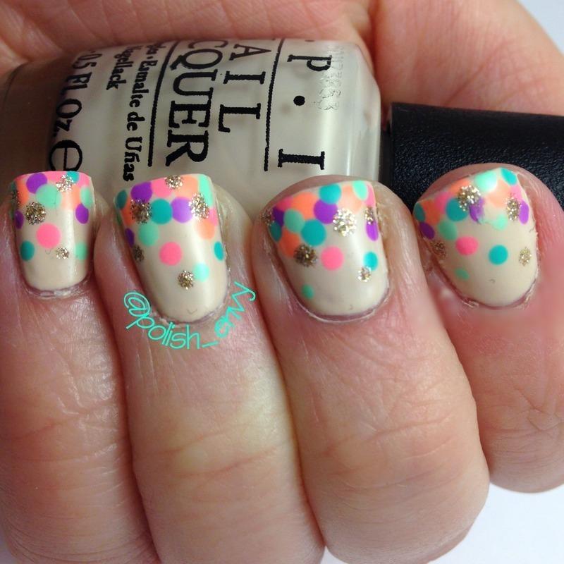 Neon Dotticure nail art by Nicole