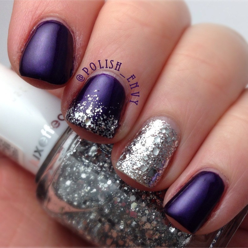 Glitzy Dark Purple nail art by Nicole - Glitzy Dark Purple Nail Art By Nicole - Nailpolis: Museum Of Nail Art