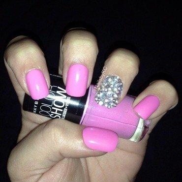 Rhinestones nail art by Nails by KC