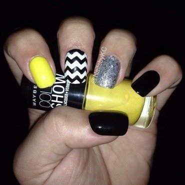 Chevron nail art by Nails by KC