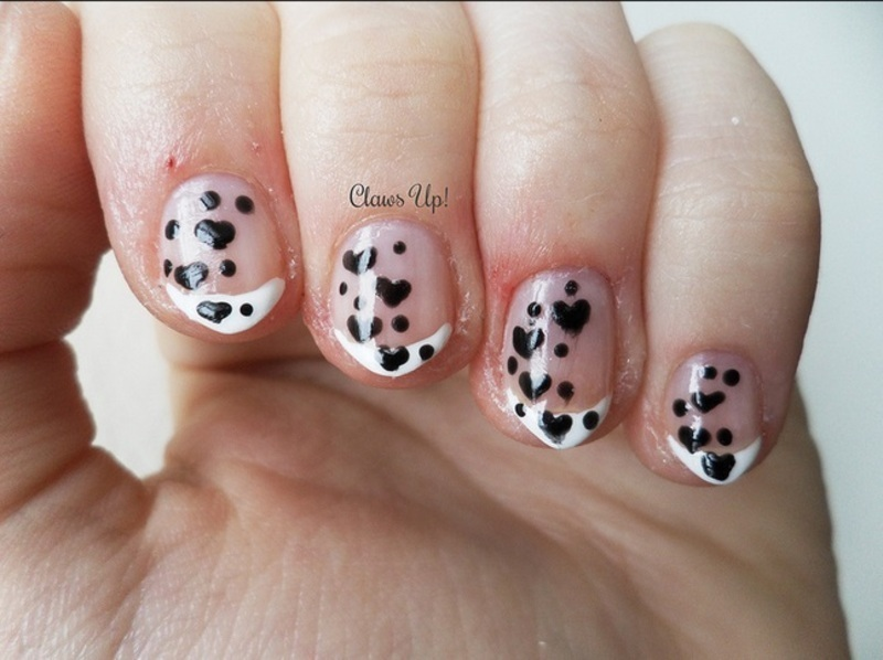 Elegant Valentine's French nail art by Jacquie