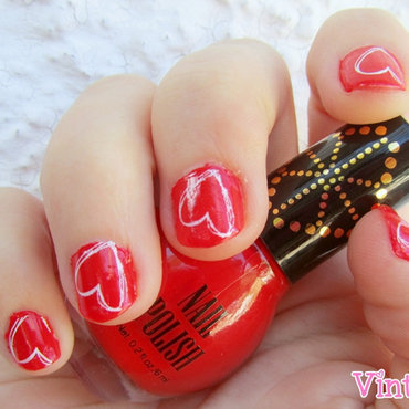 Manicura de San Valentín nail art by Vintage_Nails