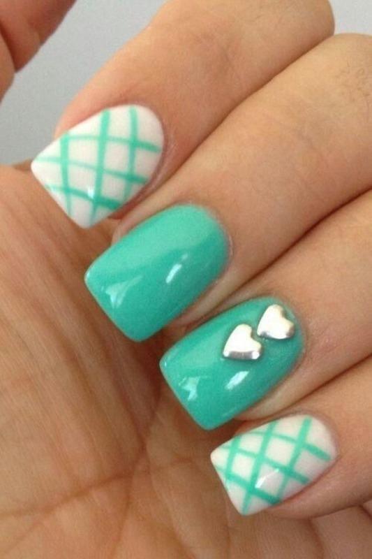 Sky nail art by Julia Koshova